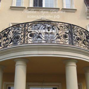 Кованый балкон «Пион» Б-05