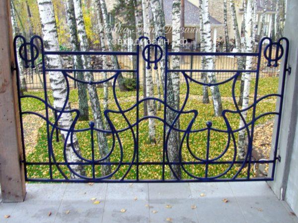 Кованый балкон «Кельтская арфа» БО-14