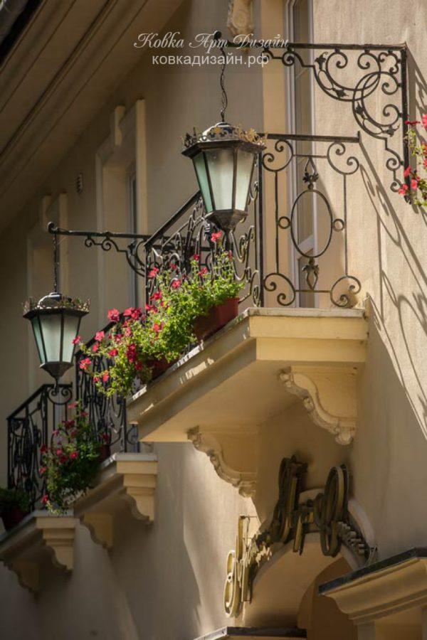 Кованый балкон «Мускадель» БО-21