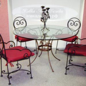 Кованые стол и стулья «Очарование» M-01
