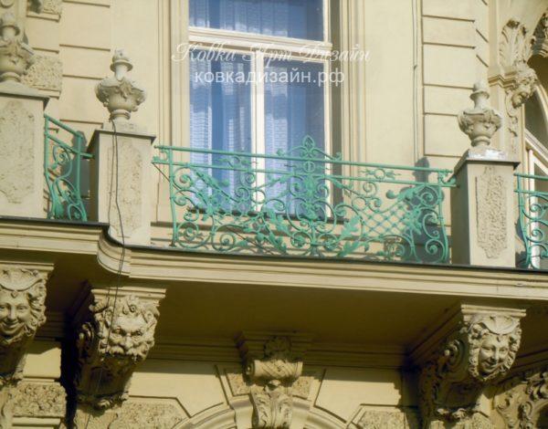 Кованый балкон «Нефела» БО-26
