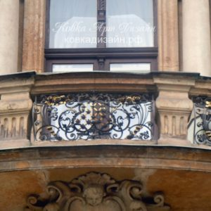 Кованый балкон «Людовик ХIV» БО-30