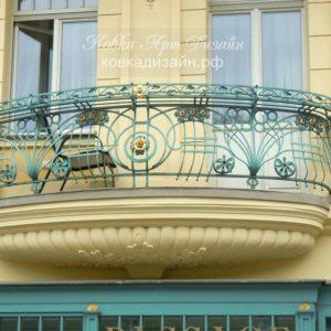 Кованый балкон «Венгерский танец» БО-35