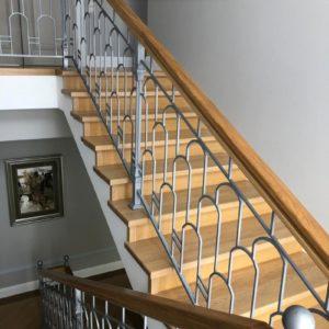 Кованые перила для лестниц П-65
