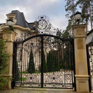 Кованые ворота «Графский сад» В-02